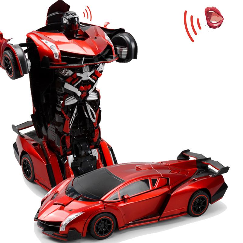 ?变形遥控车金刚变形机器人儿童电动玩具车3-4岁男孩无线遥控汽车