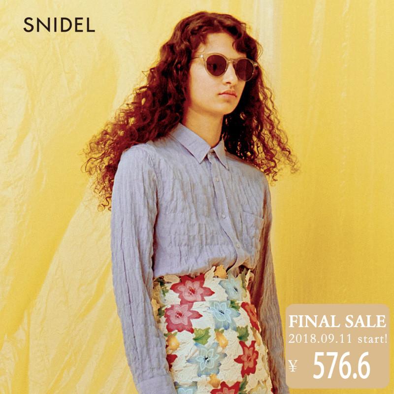 SNIDEL2018新品 简约褶皱长袖衬衣 SWFB181131