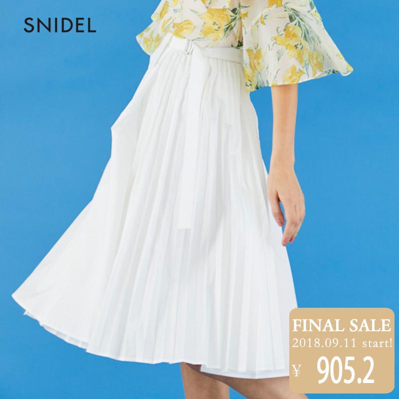 SNIDEL2018新品 休闲百搭半身裙SWFS181181