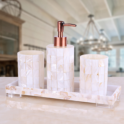 Shell bathroom wash suit hotel model room bathroom wash set decoration bathroom brush Cup