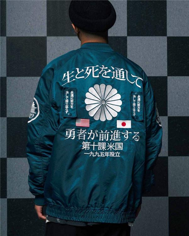 【现货正品】10 Deep Night Rider Jacket 贴布 刺绣 夹克 棒球服