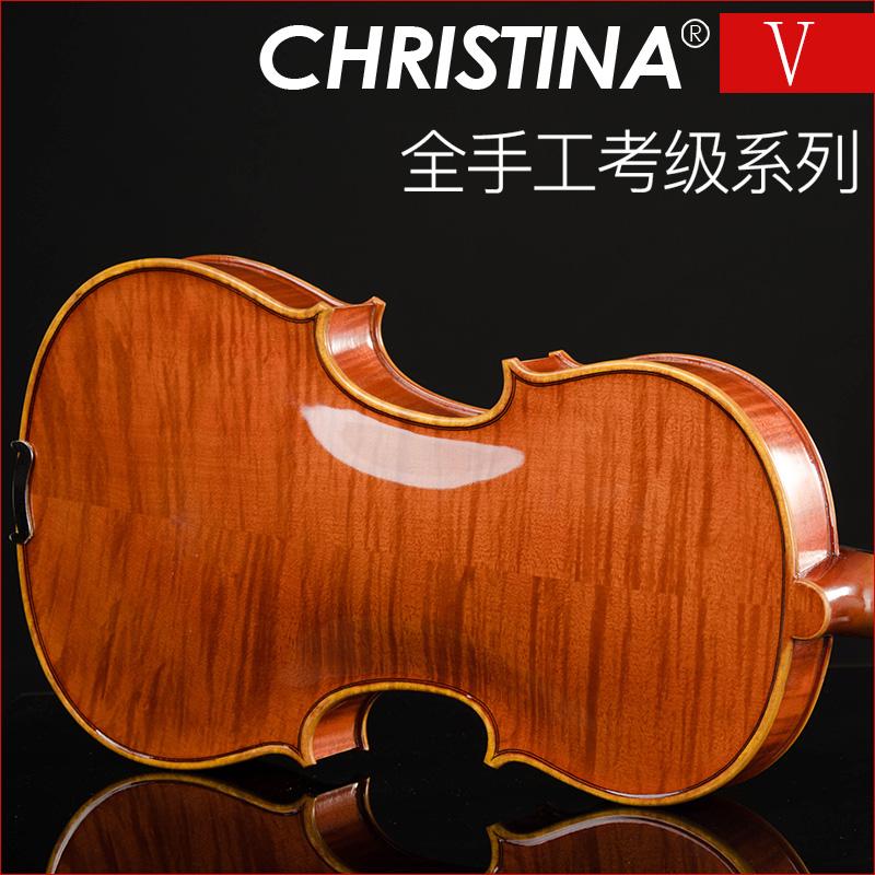 意大利christina专业手工演奏高档成人儿童入门初学实木小提琴v05