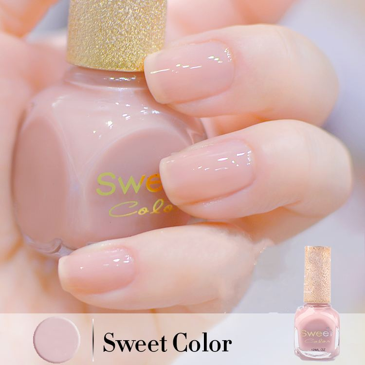 Sweet Color Non-toxic transparent jelly nail polish nude color Korea ...