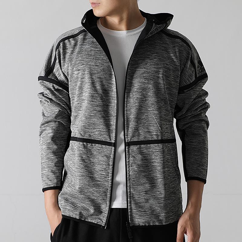 阿迪达斯男装2018秋季新款运动ZNE夹克两面穿连帽休闲外套CY9915