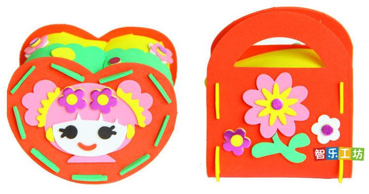 diy百宝箱eva手工制作3d立体贴画 儿童益智玩具幼儿园美劳材料包