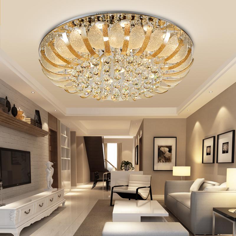 欧普照明调光客厅卧室led欧式吸顶灯圆形温馨现代简约大气水晶灯