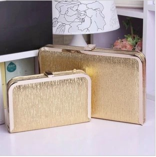 2015 new retro chain tide package dinner bag clutch Europe and the United States hand bag hard shell bag small bag female bag box package