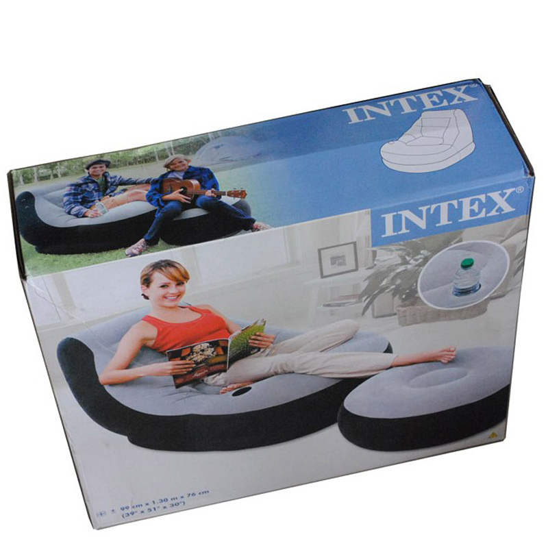 Intex Inflatable Sofa Bed Single Creative Lazy Couch Seat Cute Recliner  Recliner Padded Air Cushion Chair