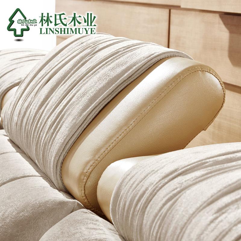 林氏木业布艺沙发现代简约大小户型客厅转角皮布沙发组合家具2040产品展示图2