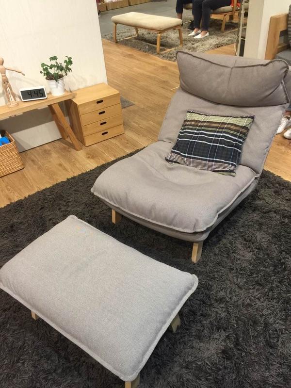 MUJI 无印良品 懒人沙发 高靠背可伸缩沙发 专柜对比 买家晒单实拍 一躺就是一整天啊 我差不多已经是个废人了