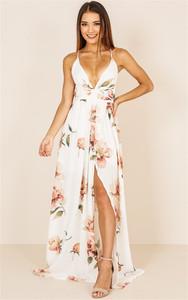 1556#欧美外贸速卖通ebay亚马逊跨境女 深V吊带露背系带连衣裙
