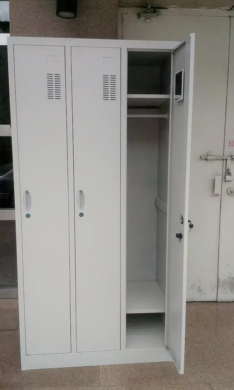 Шкаф для одежды Двухдверный трехдверный металлический шкафчик 50 см углублению работником пальто шкаф шкаф для хранения обуви шкаф может быть настроена