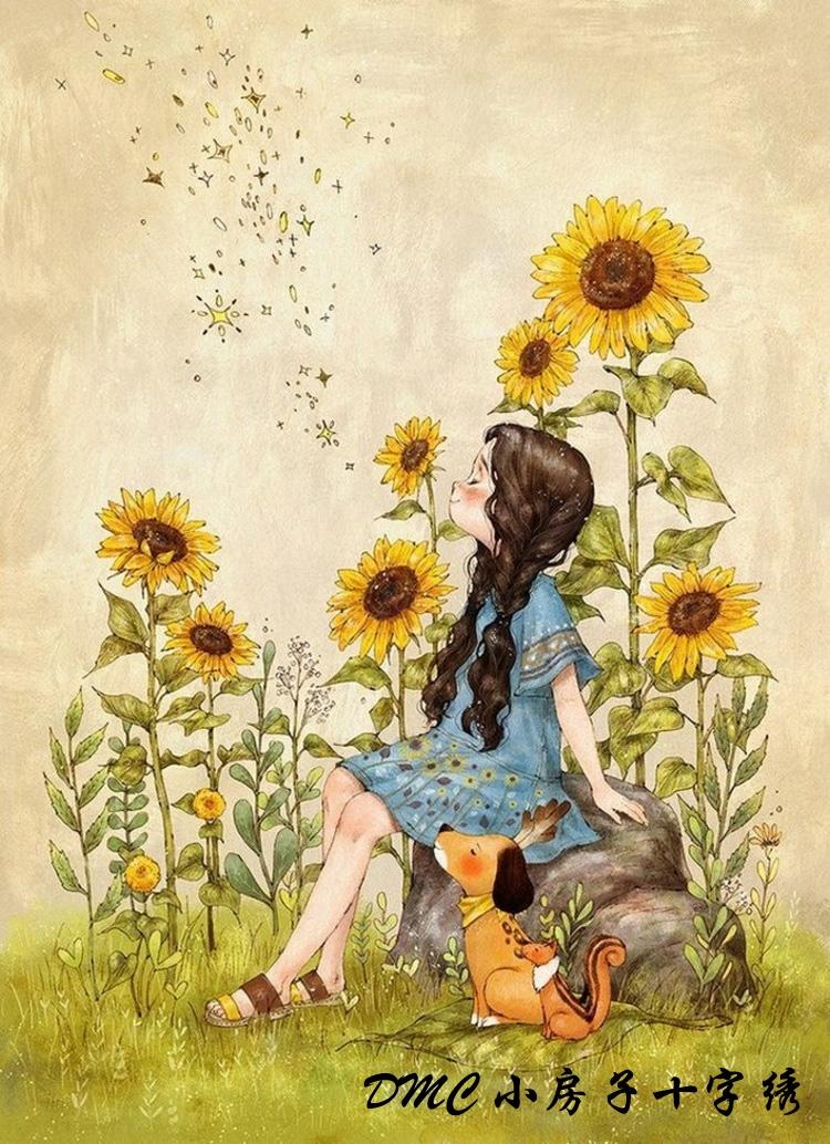 森林女孩日记 满绣美图图片