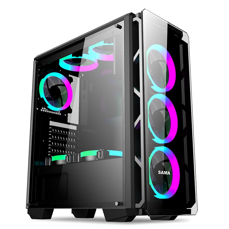 先马守护者5 台式机电脑机箱 支持背线 ATX版型 下置电源支持水冷