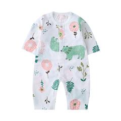 南極人寶寶衣服可愛超萌春秋0-3月夏季新生嬰兒兒純棉紗布連體衣