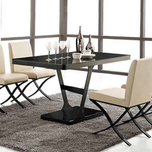 装典美家磨砂碳素钢餐桌餐台CT03