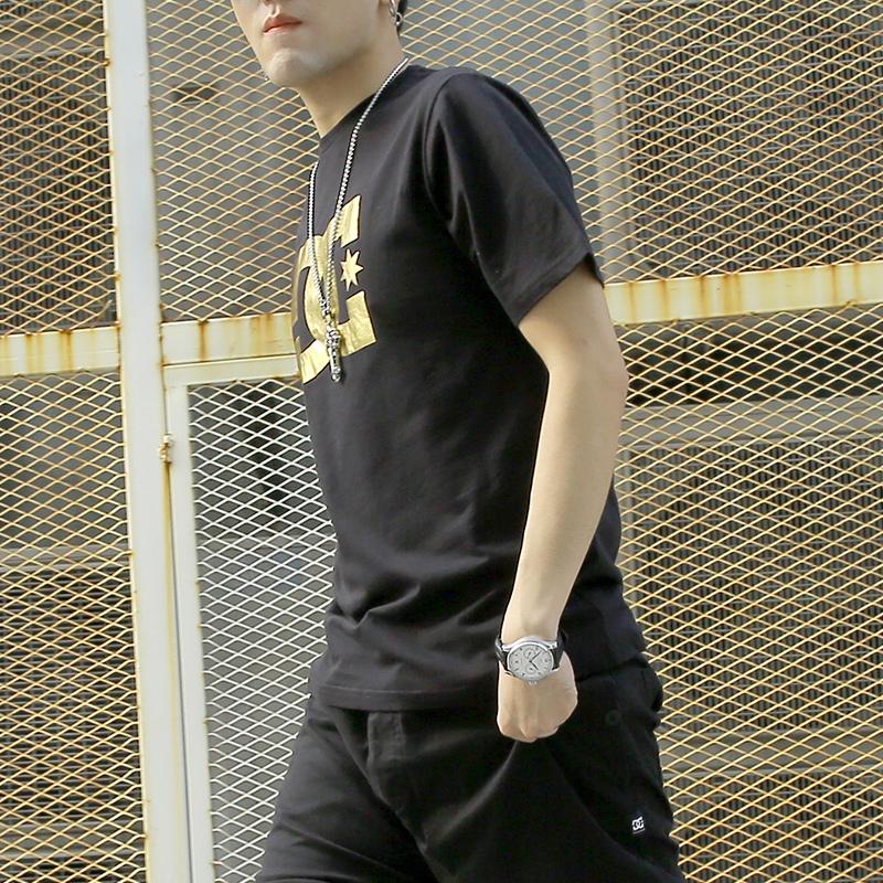 DCSHOECOUSA/DC 夏季短袖男潮牌经典纯棉圆领运动休闲T恤