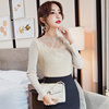 Real shot 2018 autumn new Korean style slim slimming inside the wild lace bottoming shirt