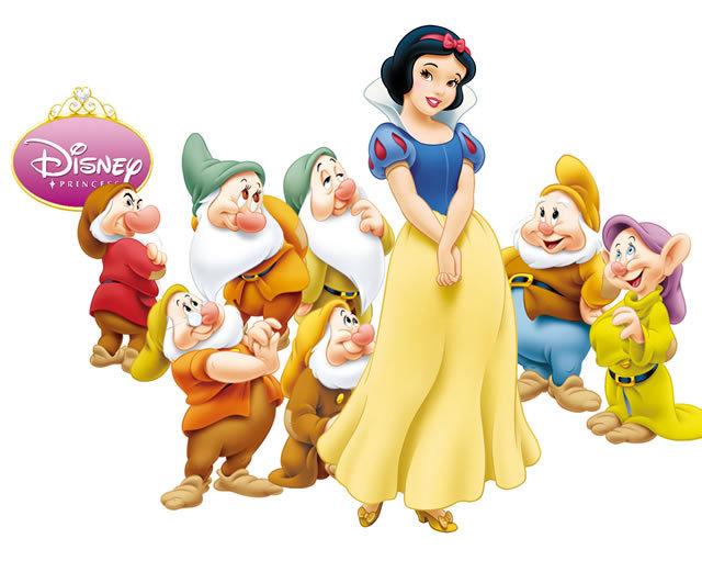 迪斯尼 白雪公主和七个小矮人 玩偶公仔 摆件 8款超值
