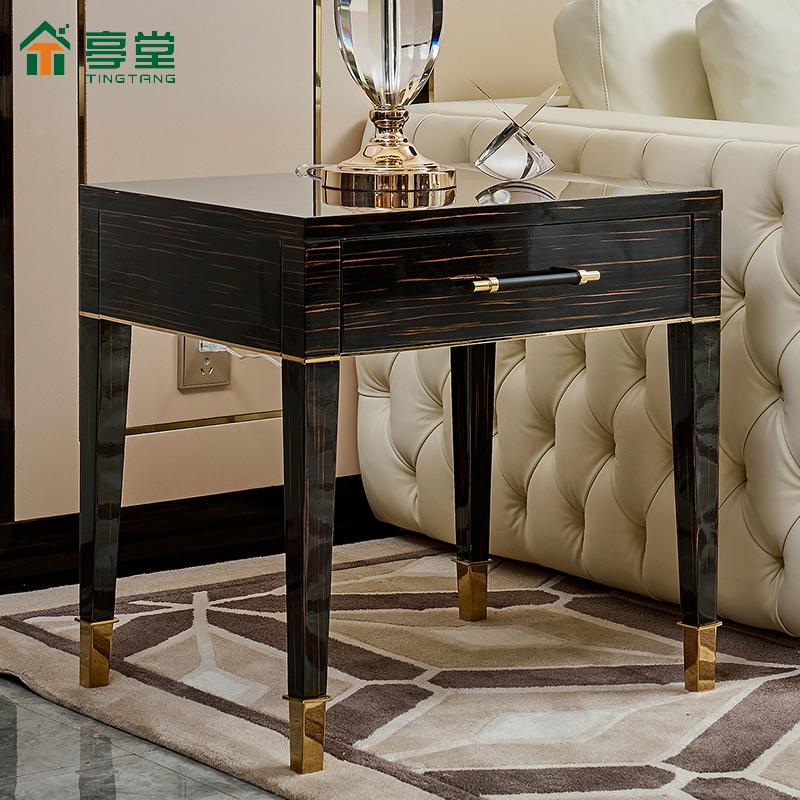 亭堂轻奢角几后现代沙发边几客厅简约小茶几方形边桌边柜港式家具