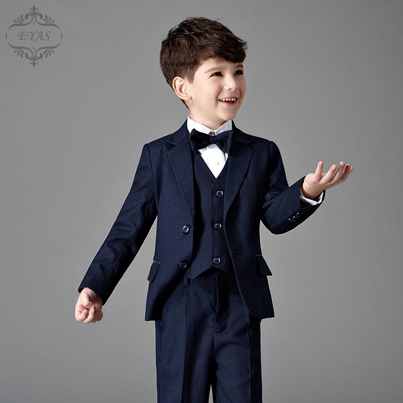 EYAS男童西装套装儿童小西服外套春夏婚礼花童礼服钢琴演出服英伦