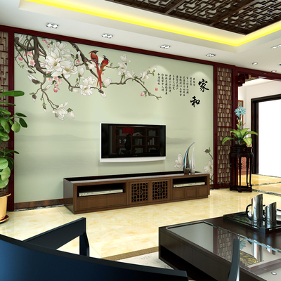 Chinese TV Wall Background Wallpaper Bedroom Living Room 3D ...