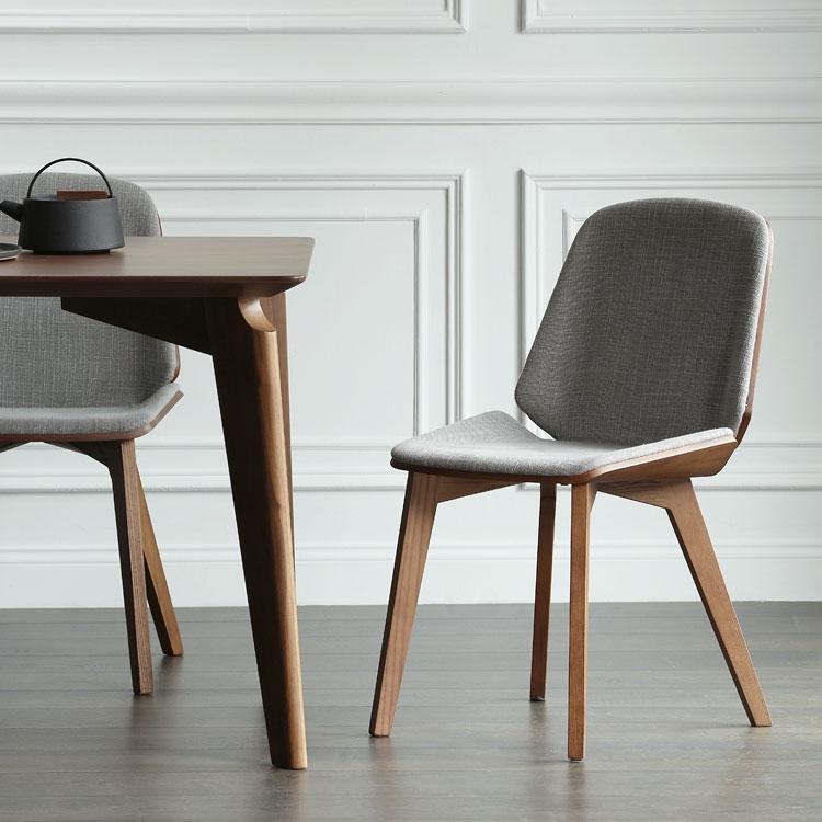 北欧表情/传世经典/现代简约/北美黑胡桃/曼达尔餐椅