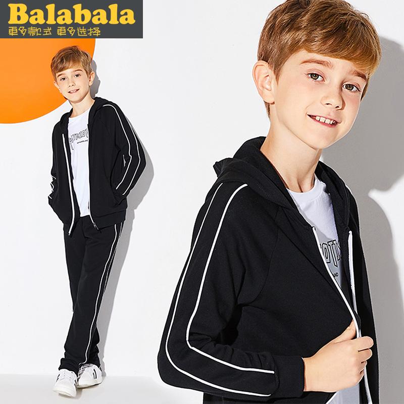 巴拉巴拉男童运动套装2018秋装新款童装休闲两件套儿童卫衣外套潮