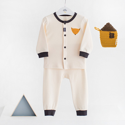 Children's clothing children's spring and autumn underwear set South Korea imported dalpong baby pure cotton non-fluorescent Qiuqiu pants