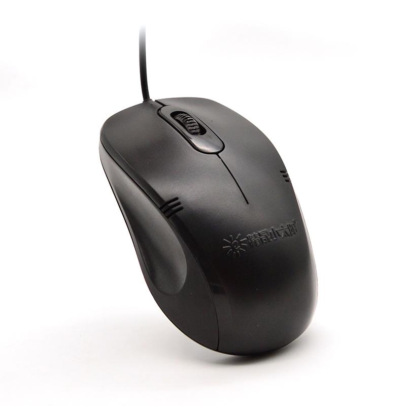 精晟小太阳笔记本台式通用USB/ps2圆接口有线办公家用鼠标详情5
