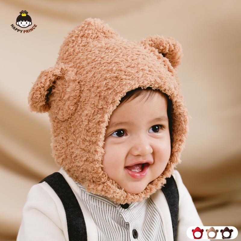 婴儿帽子冬季毛线帽韩国版儿童套头帽秋冬宝宝男女童帽子保暖可爱