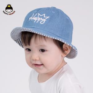 新生儿帽子春秋0-6-12个月可爱纯棉男女儿童渔夫帽盆帽宝宝帽子春