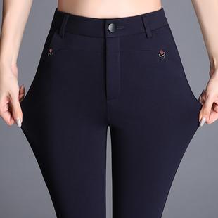 2018新款黑色休闲裤女直筒长裤大码胖mm裤子百搭显瘦职业西裤