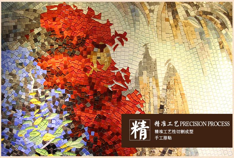 玛雅拼图马赛克背景墙瓷砖玻璃马赛克图山水画 风景画