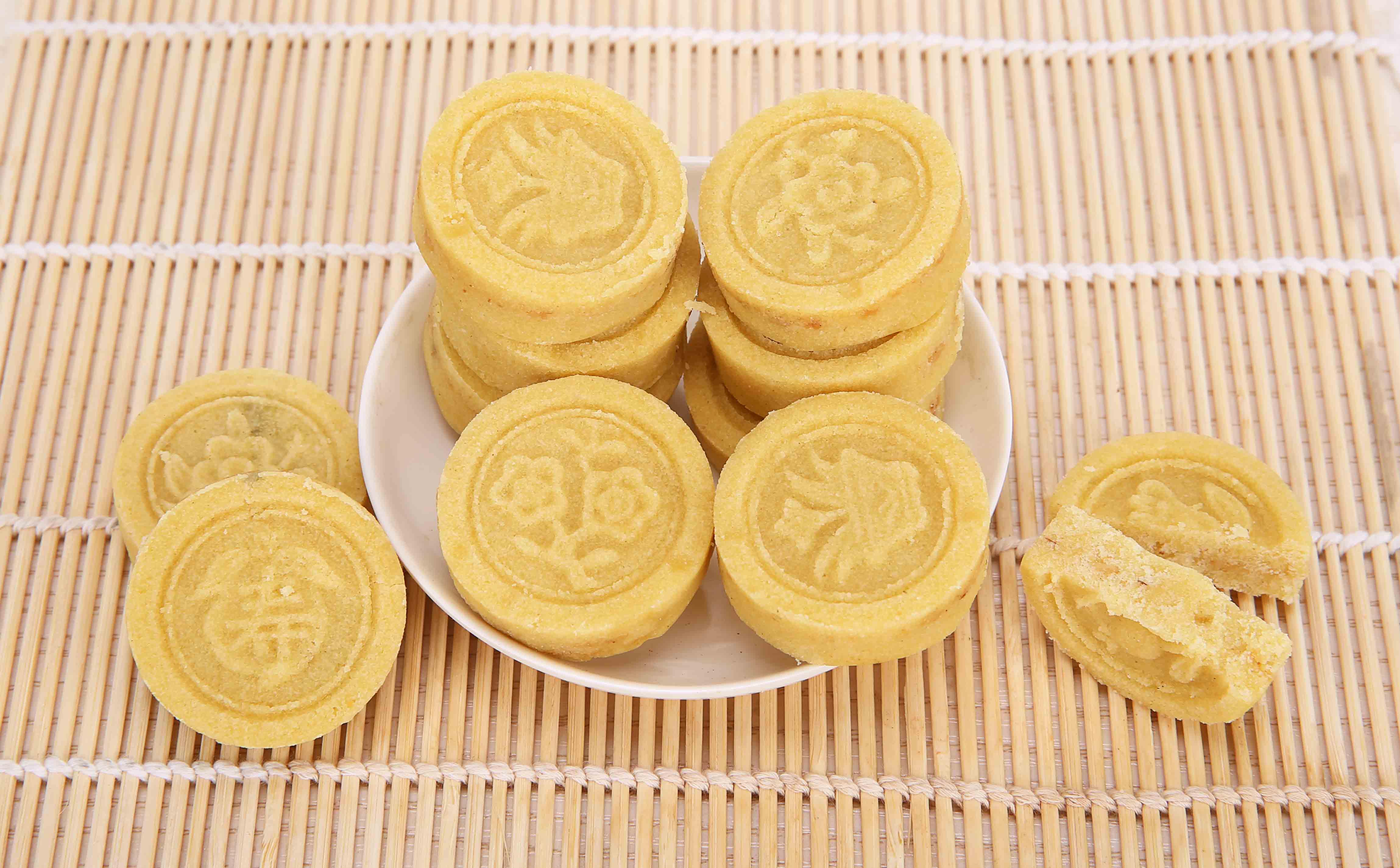 潮汕正宗纯正绿豆糕 特产零食圆糕 潮州纯手工绿豆糕芝麻糕豆沙糕