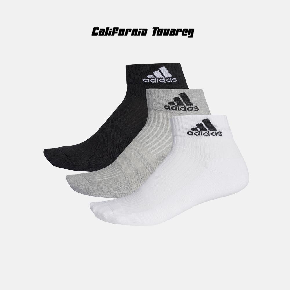 阿迪达斯Adidas 男女跑步训练透气休闲低帮运动短袜三双装AA2287
