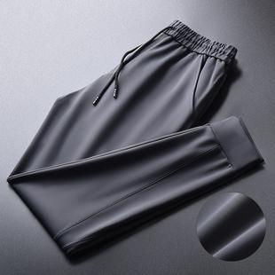 男士高端丝滑束脚加绒卫裤休闲裤
