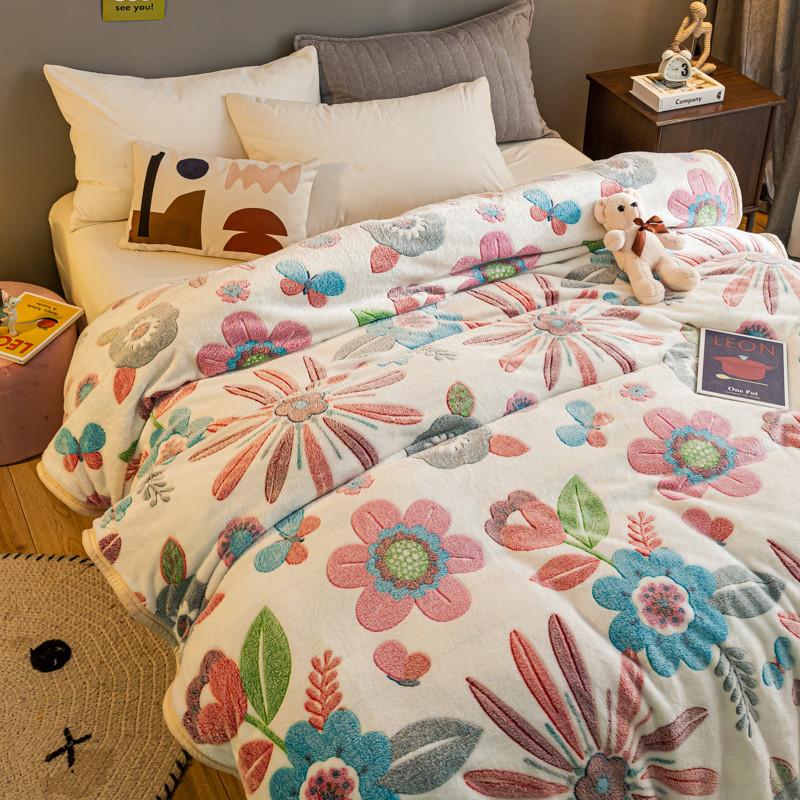 毛毯珊瑚绒加厚冬季小毯子毛巾被子法兰绒保暖床单人办公室午睡毯
