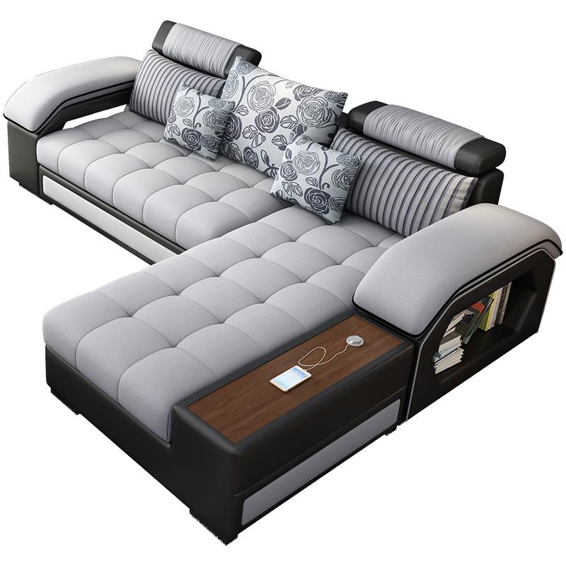 轻奢皮布沙发
