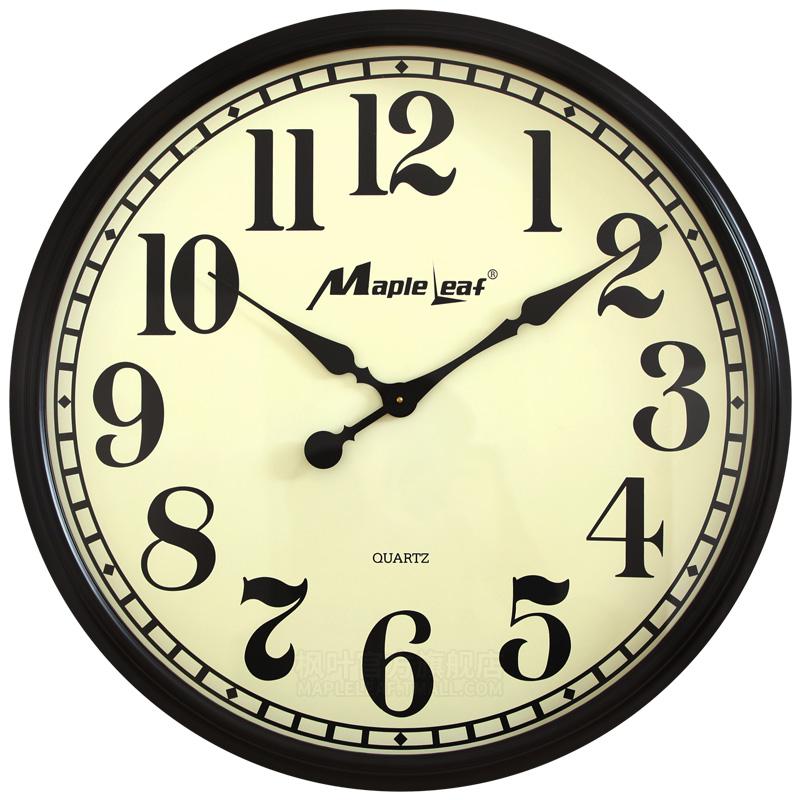 枫叶超大挂钟大号钟表1米大尺寸实木客厅特大号40英寸特大石英钟