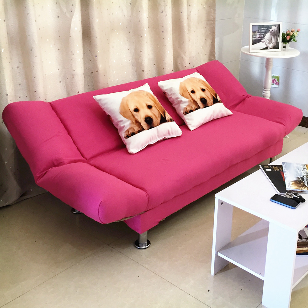 Simple folding sofa bed multi-functional small apartment living room sofa bed dual-use single double mini lazy sofa