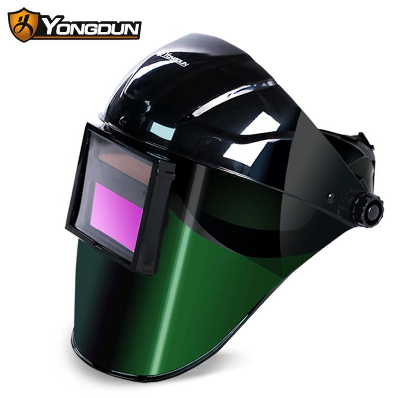 自动变光电焊面罩头戴式焊帽焊接焊工面罩烧焊眼镜防护氩弧焊面罩