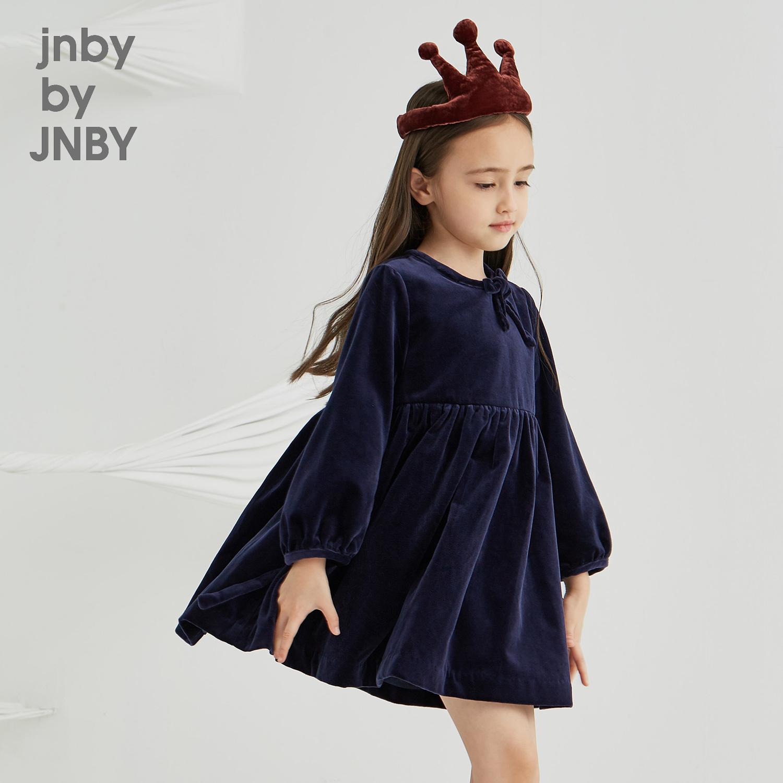 江南布衣童装秋冬2018新款女童优雅复古礼服连衣裙1H7511180