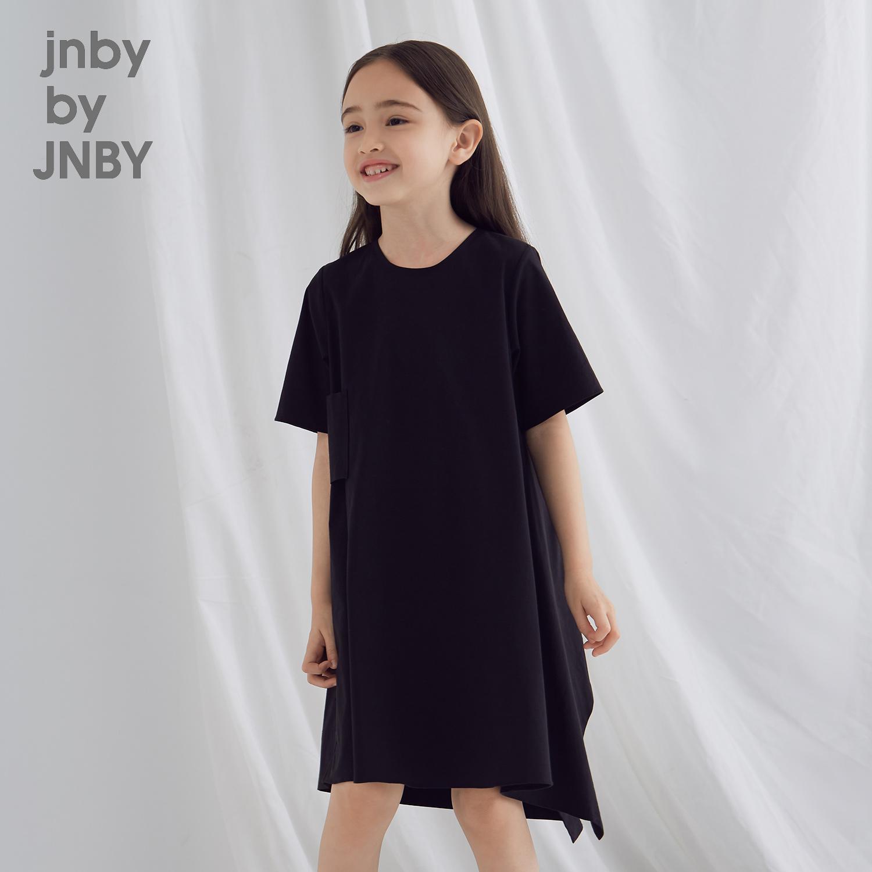 江南布衣童装夏2018新款女童经典款不规则剪裁连衣裙1I4500250