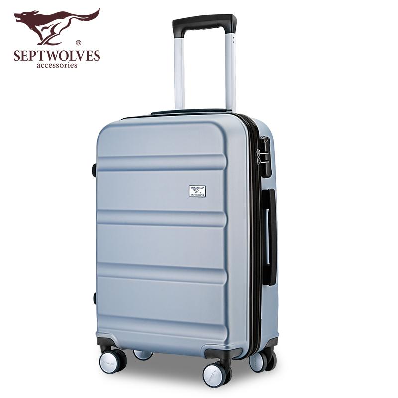七匹狼拉杆箱行李箱旅行箱万向轮女男学生密码箱20寸24寸箱子韩版