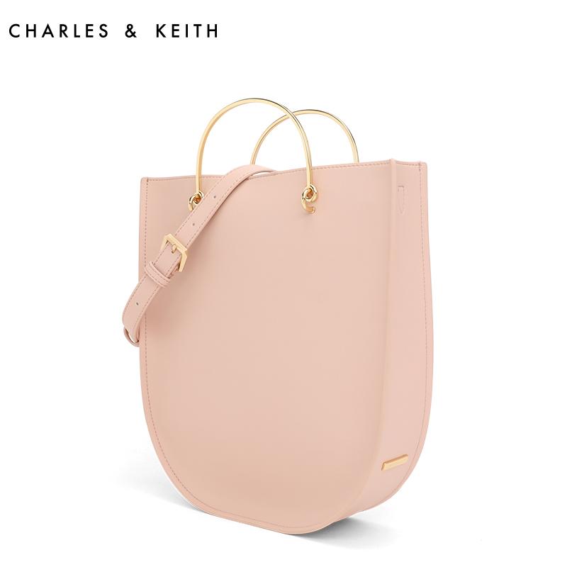 CHARLES&KEITH 手提包 CK2-30780626 金属手柄大容量单肩托特包