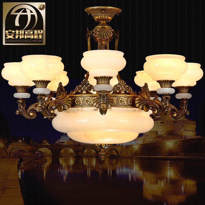安邦高程西班牙云石灯全铜吊灯欧式复古客厅吊灯别墅吊灯酒店灯具