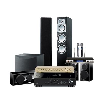 Yamaha-雅马哈 RX-V481蓝牙AV功放NS-9502 P150家庭影院五件套环绕声音箱5.1音响套装K歌唱歌KTV卡拉OK组合