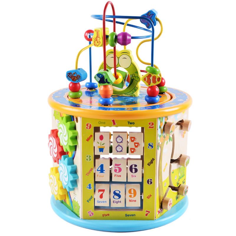 儿童绕珠百宝箱多功能游戏串珠男孩宝宝婴儿早教启蒙益智积木玩具