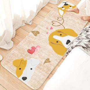 卧室床边地毯ins风少女满铺可爱房间长条卡通家用可睡可坐地垫